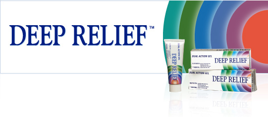 Deep Relief gel offers unique dual action relief, combining a nonsteroidal anti-inflammatory drug (ibuprofen) with menthol, Deep Relief is able to provide immediate and long lasting relief of rheumatic pain, and muscular aches and pains, together with its inflammation reduction properties.